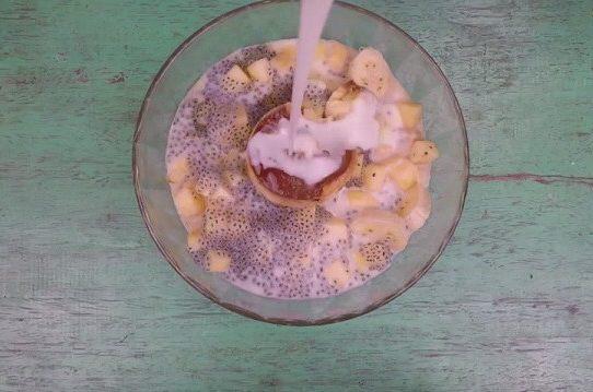 Hướng dẫn mix Sữa chua caramen thập cẩm tại nhà