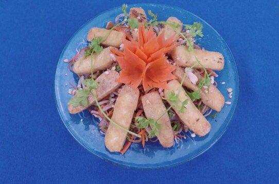 Nộm hoa chuối đậu phụ