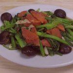 Rau cải xanh xào dầu hào