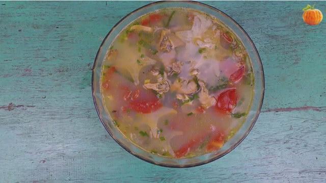 Canh trai nấu khế, cà chua