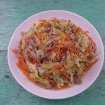 Bắp cải xào thịt chua