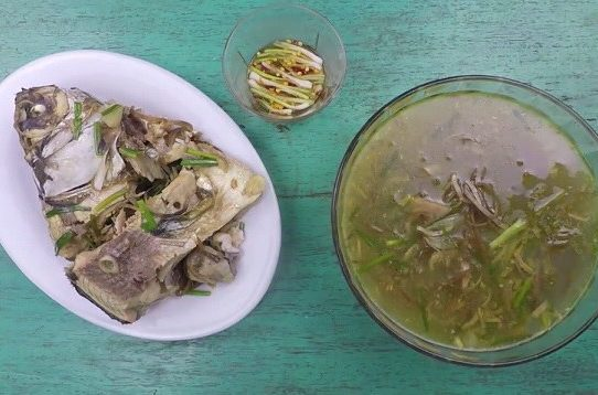 Cá mè nấu hoa chuối