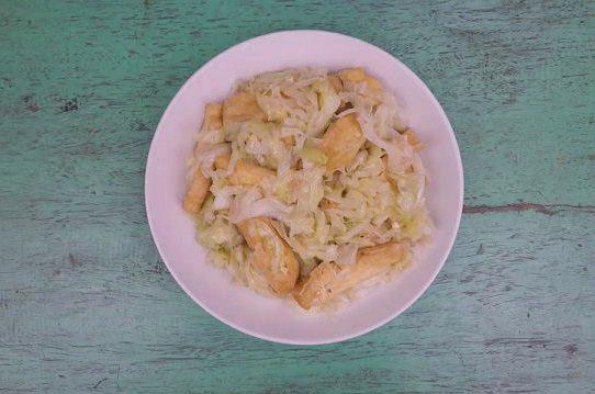 Bắp cải xào đậu hũ || Món ăn chay