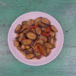 Chuối xanh kho sả – ớt chay