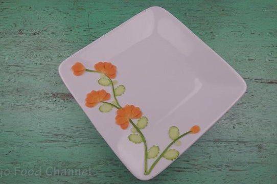 Trang trí viền đĩa (05) - Hoa khoe sắc