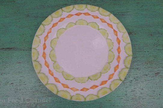 Trang trí viền đĩa (09) - Ba vòng tròn