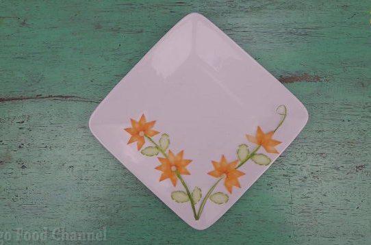 Trang trí viền đĩa (11) - Hai nhành hoa