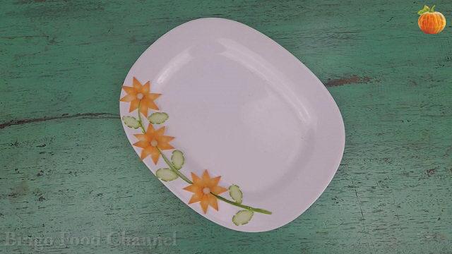 Trang trí viền đĩa (10) - Ba bông hoa