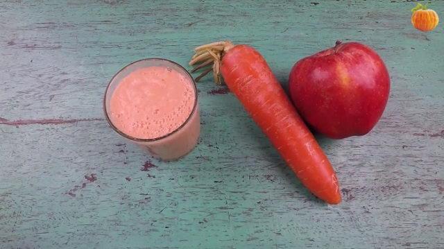 Sinh tố táo - cà rốt