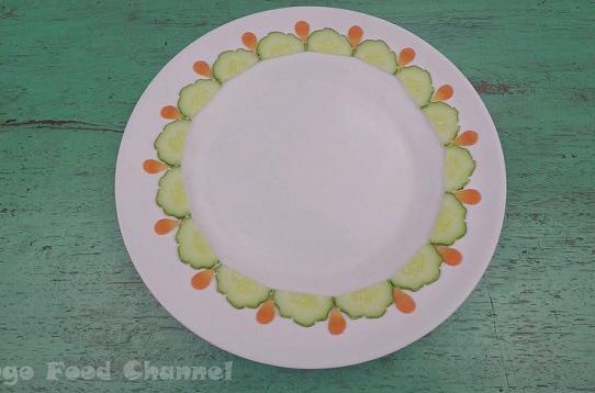 Trang trí viền đĩa (15) - Giọt nước