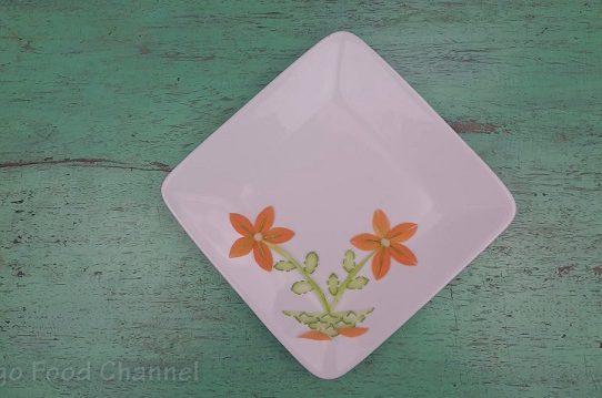 Trang trí viền đĩa (31) - Hoa và lá