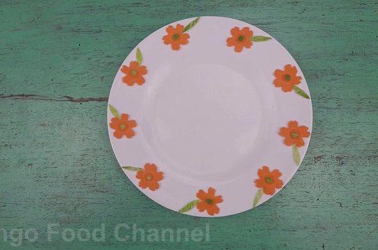 Trang trí viền đĩa (44) - Hoa lá mùa xuân