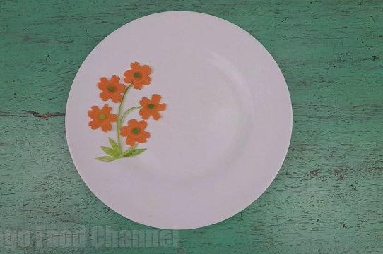 Trang trí viền đĩa (46) - Cây có hoa
