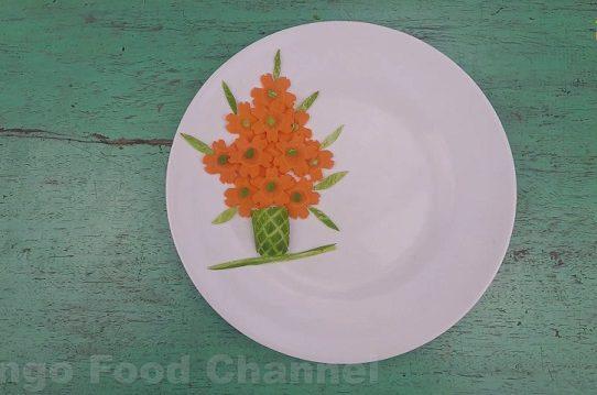 Trang trí viền đĩa (47) - Bình hoa