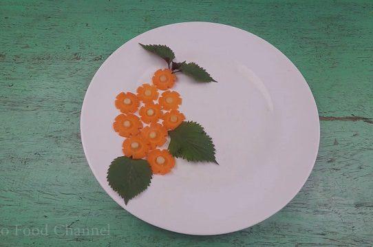 Trang trí viền đĩa (48) - Khóm hoa