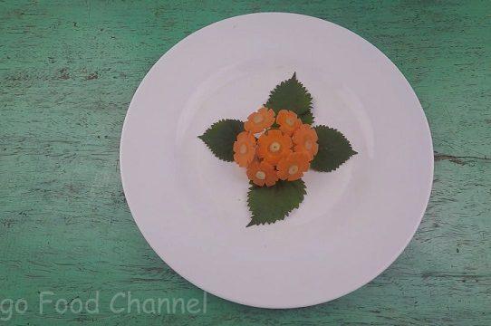 Trang trí viền đĩa (49) - Hoa mùa hè